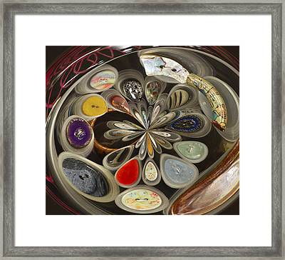 Twisted Button Framed Print