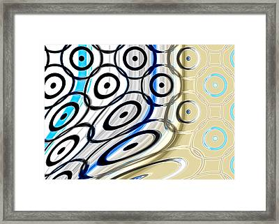 Twisted Circles Framed Print by Hakon Soreide