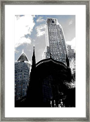 Twisted City Framed Print by Mark J Dunn