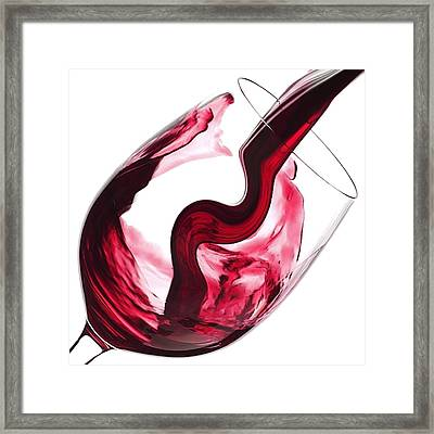 Twisted Flavour Red Wine Framed Print