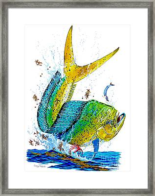 Twisted Mahi Framed Print by Carey Chen