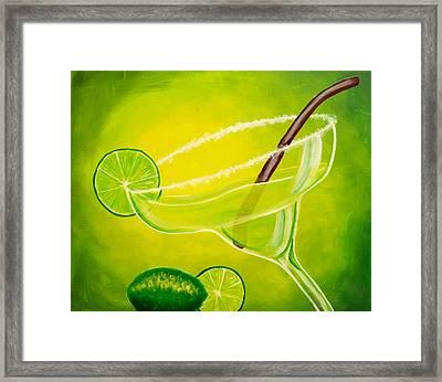 Twisted Margarita Framed Print by Darren Robinson