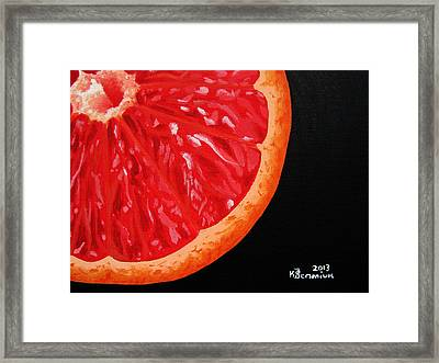 Twisted Passion Framed Print by Kayleigh Semeniuk