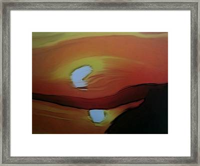 Twisted Reflection Framed Print by Dennis Buckman