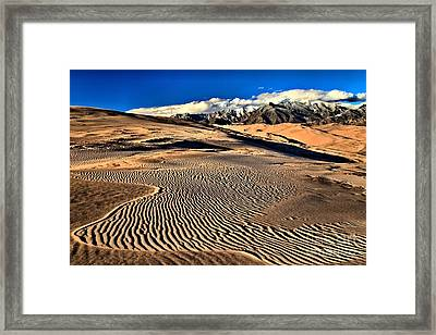 Twisted Ripples Framed Print