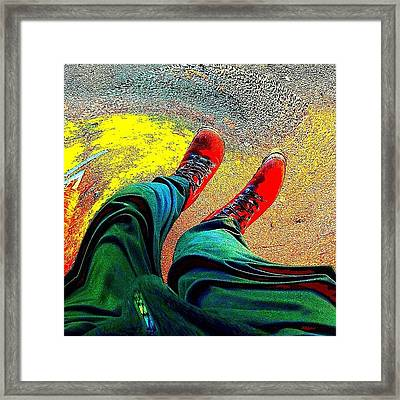 Twisted Rrred Framed Print by Urbane Alien