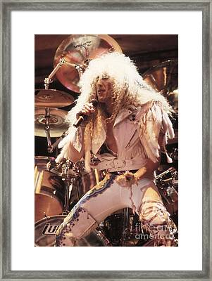 Twisted Sister - Dee Snider Framed Print by Concert Photos