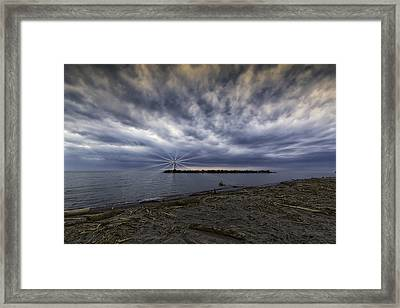 Twisted Sky Framed Print by Kris Rowlands
