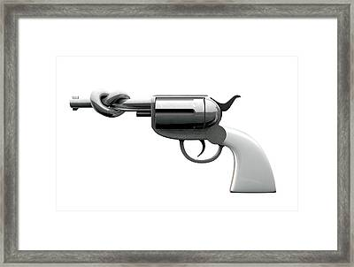 Twisted Violence Framed Print by Allan Swart
