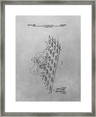 Twister Game Patent Illustration Framed Print