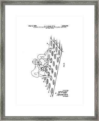 Twister Patent Drawing Framed Print