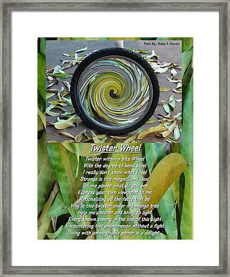 Twister Wheel Framed Print