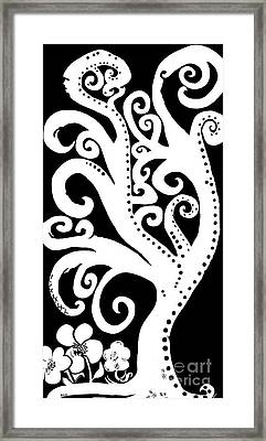 Twisting And Twirling In Black And White Framed Print by Eloise Schneider