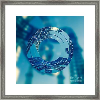 Twisting Blue Steel Framed Print