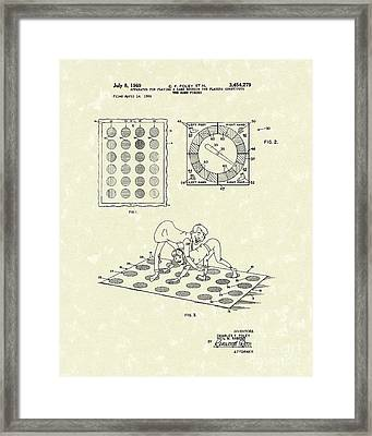 Twisting Game 1969 Patent Art Framed Print by Prior Art Design