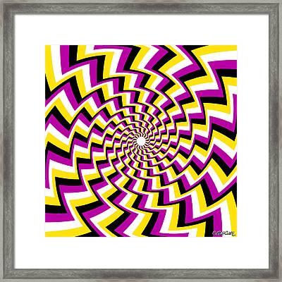 Twisting Spiral Framed Print