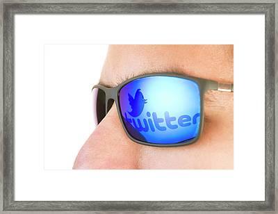Twitter Framed Print