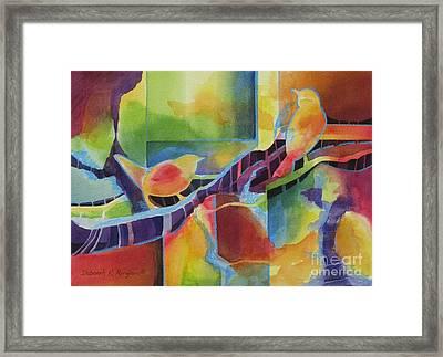 Twitter Framed Print by Deborah Ronglien