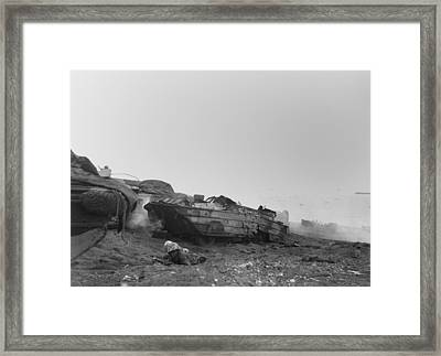 Two African American Landing Craft Framed Print