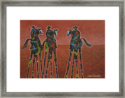 Two Against One Framed Print by Lance Headlee