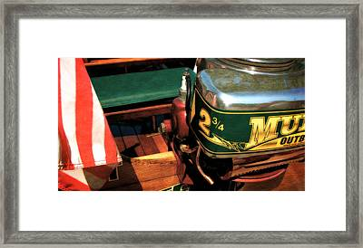 Two And Three Quarters Hp Muncie Outboard Motor Framed Print