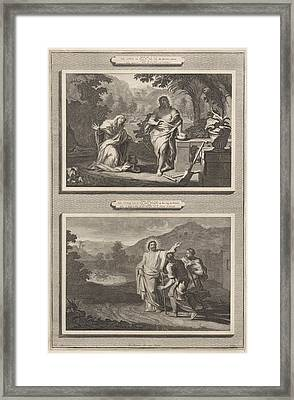 Two Appearances Of Christ After The Resurrection Framed Print