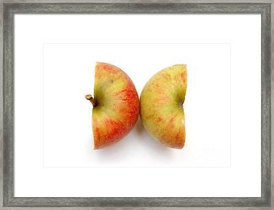 Two Apple Halves Framed Print by Michal Bednarek
