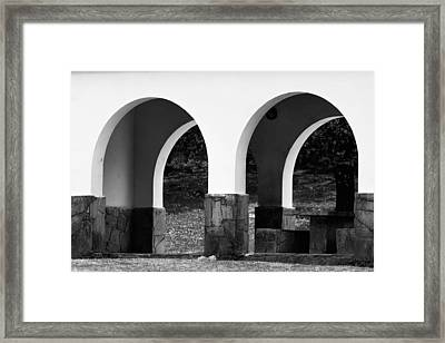 Two Arcs Framed Print