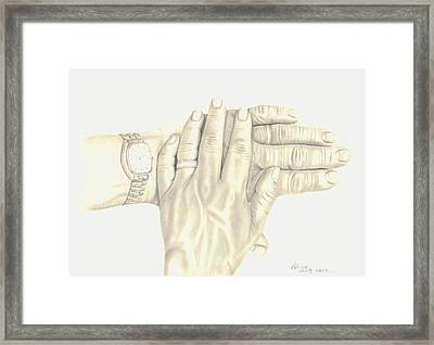 Framed Print featuring the drawing Two As One by Patricia Hiltz