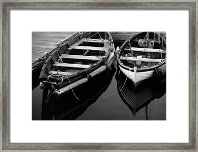 Two At Dock Framed Print