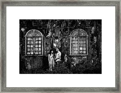 Two At The Old Wall 1. Margao. India Framed Print by Jenny Rainbow