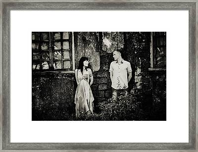 Two At The Old Wall. Margao. India Framed Print by Jenny Rainbow