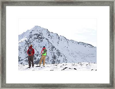 Two Backcountry Skiers In Pony Framed Print