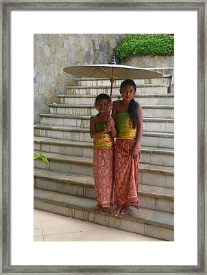 Two Bali Beauties  Descended Framed Print by Jack EdsonAdams