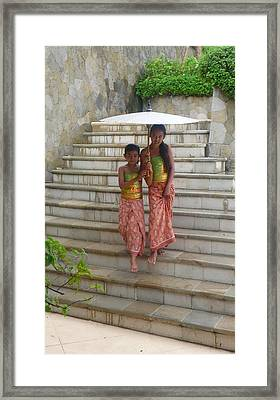 two Bali Beauties  Framed Print by Jack Adams