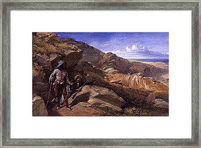 Two Bandits In The Hills, 1857 Framed Print