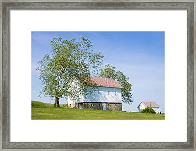 Two Barns Framed Print by Alexey Stiop