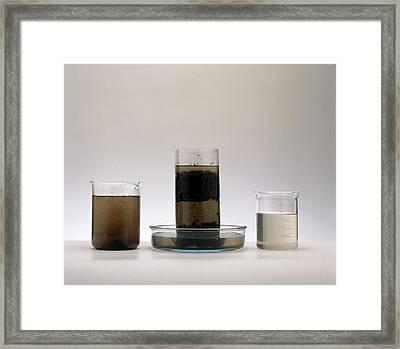 Two Beakers Framed Print