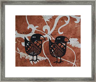 Two Beaks Framed Print