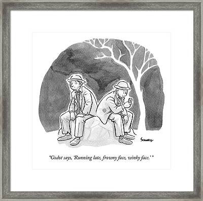 Two Bedraggled Men Framed Print