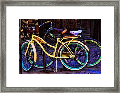 Two Bikes Framed Print