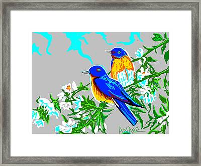 Two Birds Framed Print by Anand Swaroop Manchiraju