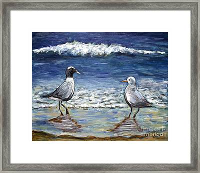 Two Birds With Foam Framed Print