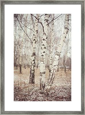 Two Blonde Sisters. Winter Poems Framed Print by Jenny Rainbow
