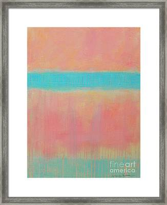 Two Blue Lines Framed Print by Kate Marion Lapierre