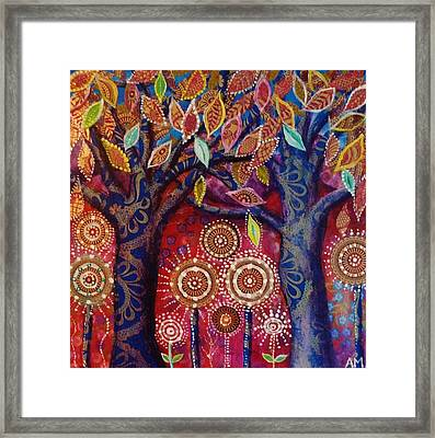 Two Blue Trees Framed Print by Alice Mason