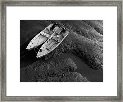 Two Boats At Low Tide Framed Print