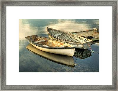 Two Boats At Peggys Cove Framed Print