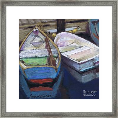 Framed Print featuring the painting Two Boats Bernard by Susan Herbst