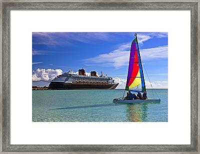 Two Boats  C6j5527 Framed Print
